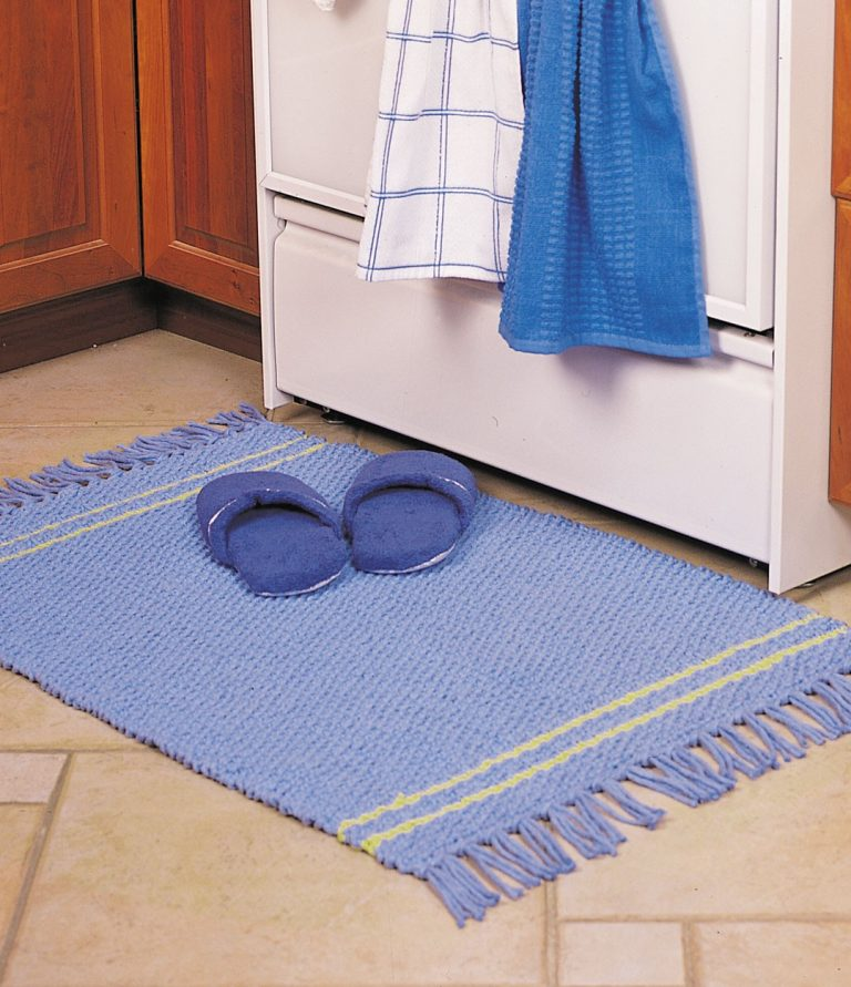 Free Knitting Pattern for Striped Rug