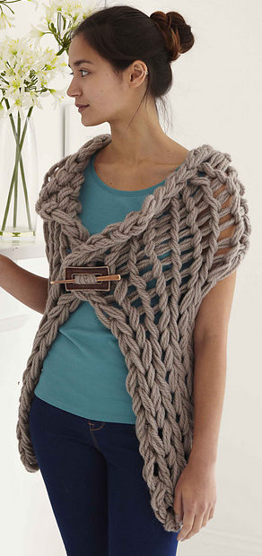 Knitting Pattern for Arm Knit Gillet