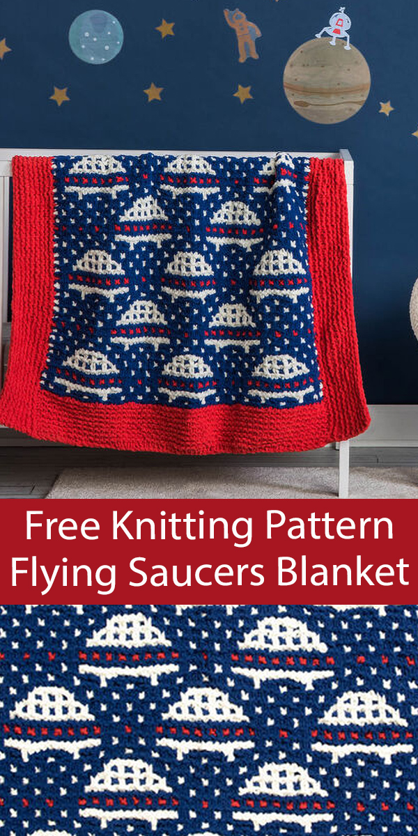 Free Baby Blanket Knitting Pattern Flying Saucers Blanket