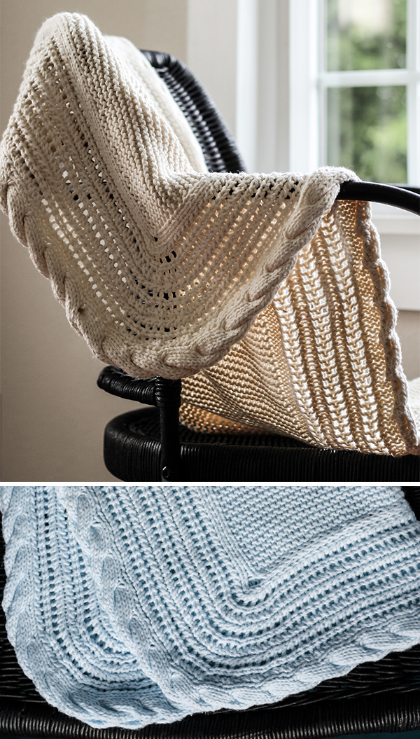 Knitting Pattern for Simply Seamless Baby Blanket