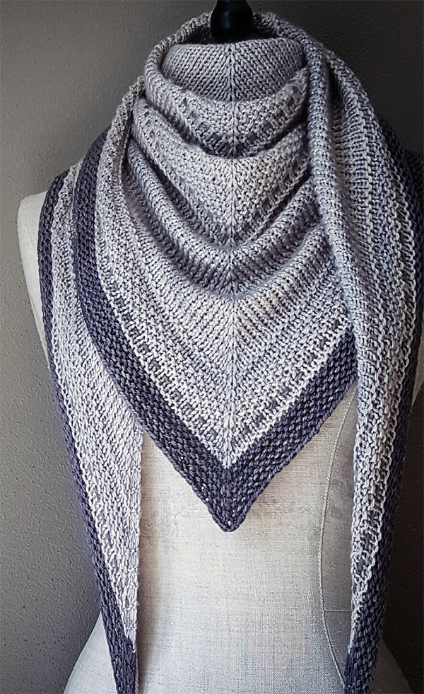 Knitting Pattern for Simply Shawl