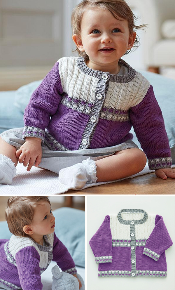 Baby girl/'s knitted multi coloured cardigan new born size.
