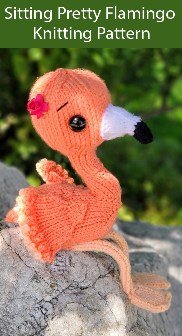 Knitting Pattern for Sitting Pretty Flamingo Toy