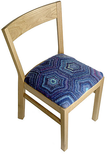 Free knitting pattern for Situate chair Cover