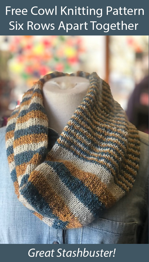 Free Knitting Pattern for Six Rows Apart Together