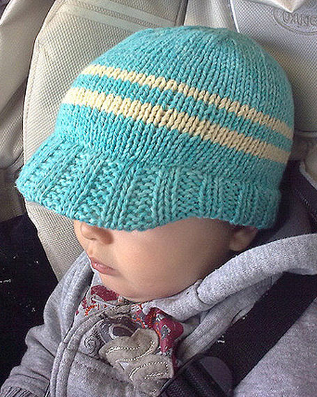 Baby Hats With Brims Knitting Patterns - In the Loop Knitting