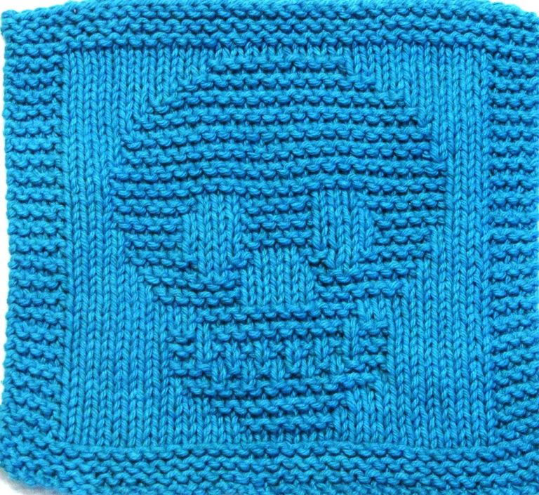 Knitting Pattern for Skull Wash Cloth