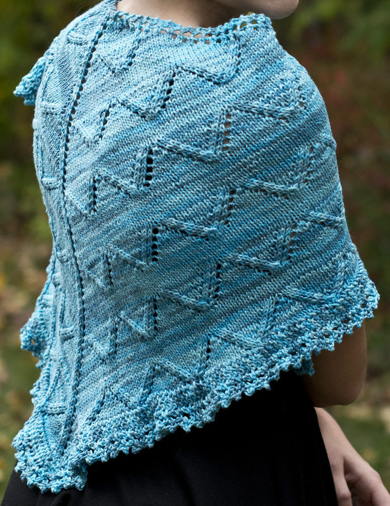 Free Knitting Pattern for Skylark Shawl