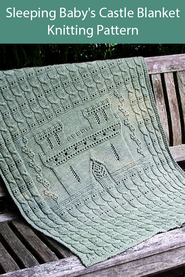 Knitting Pattern for Sleeping Baby's Castle Blanket