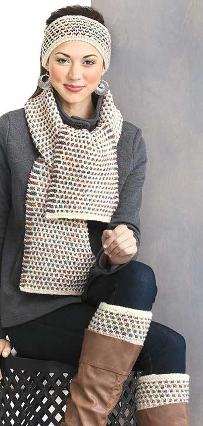 Knitting Pattern for Slip Stitch Accessory Set