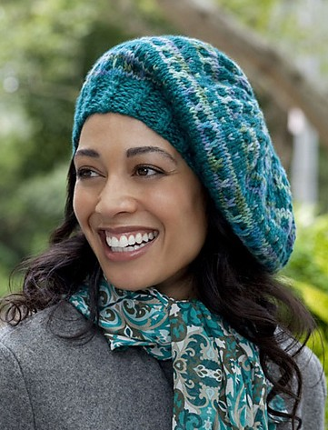 Free knitting pattern for Slip Stitch Beret