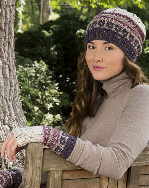 34294237e44 Free Knitting Pattern for Slip Stitch Hat and Mitts