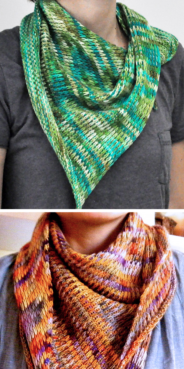Free Knitting Pattern for Easy Slipped Stitch Scarf