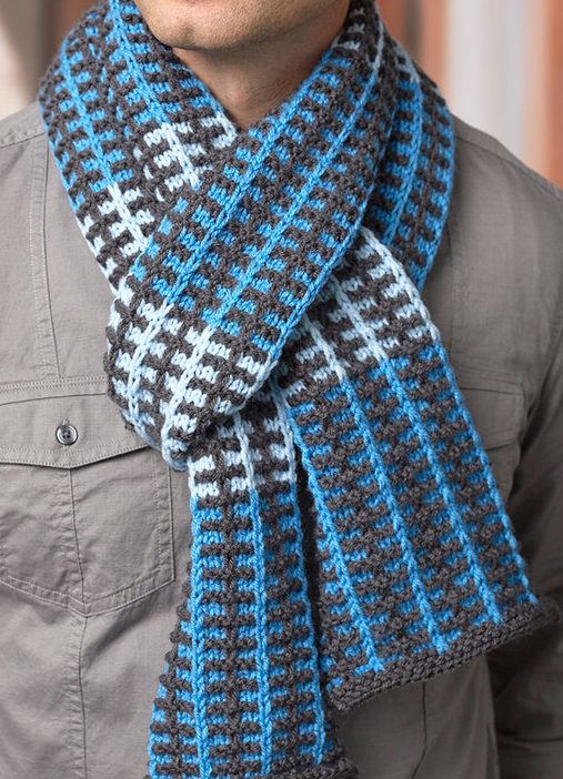 Free Knitting Pattern for Slipped Stripes Scarf