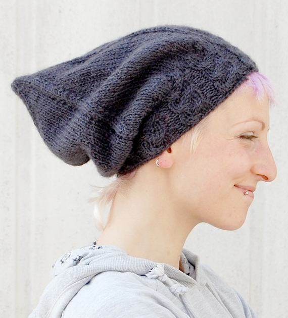 Knitting Pattern for Sloochie Slouchy Pixie Hat