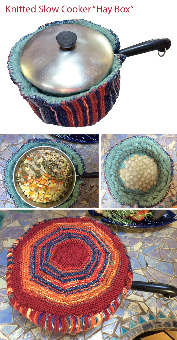 Free Knitting Pattern for a Knitted Slow Cooker
