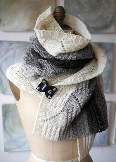 Knitting Pattern for Slow Dog Noodle Scarf or Shawl