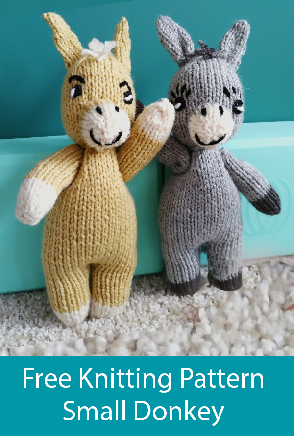 Free Knitting Pattern for Small Donkey Toy