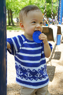 Anchors Aweigh Sweater Free Knitting Pattern | Free Baby and Toddler Sweater Knitting Patterns including cardigans, pullovers, jackets and more http://intheloopknitting.com/free-baby-and-child-sweater-knitting-patterns/