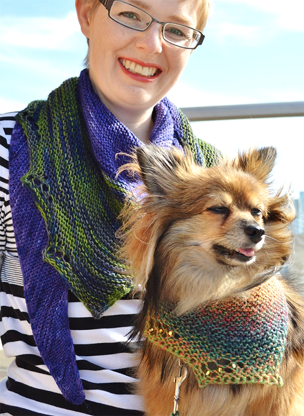 Free Knitting Pattern for Matching Shawls for You and Your Pet
