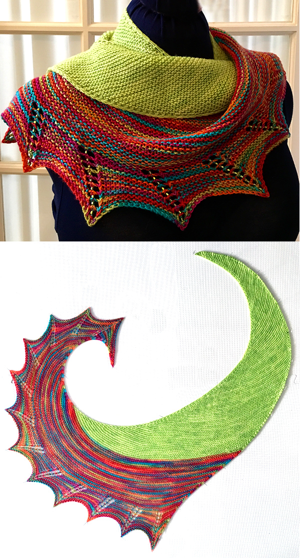 Free Knitting Pattern for Smash Shawl