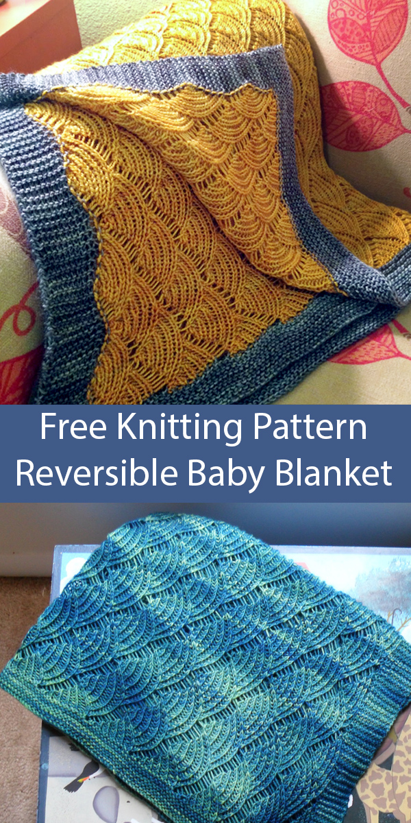 Free Knitting Pattern for Reversible Baby Blanket Smells Like Decaf