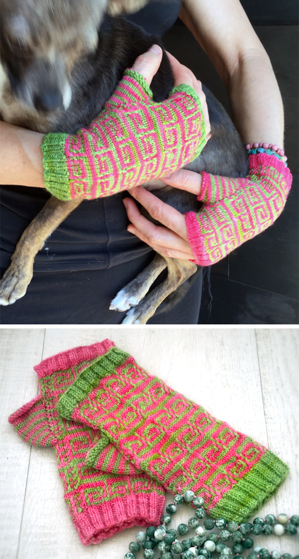Free Knitting Pattern for Smitten and Bitten Mitts