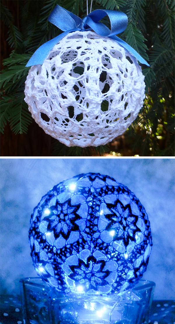 Free Knitting Pattern for Snowballicious Ornament