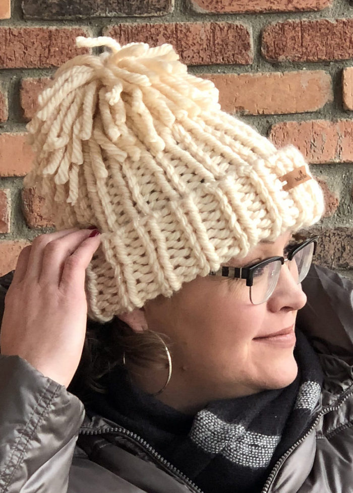 Free Knitting Pattern for Snowboarder Chunky Hat