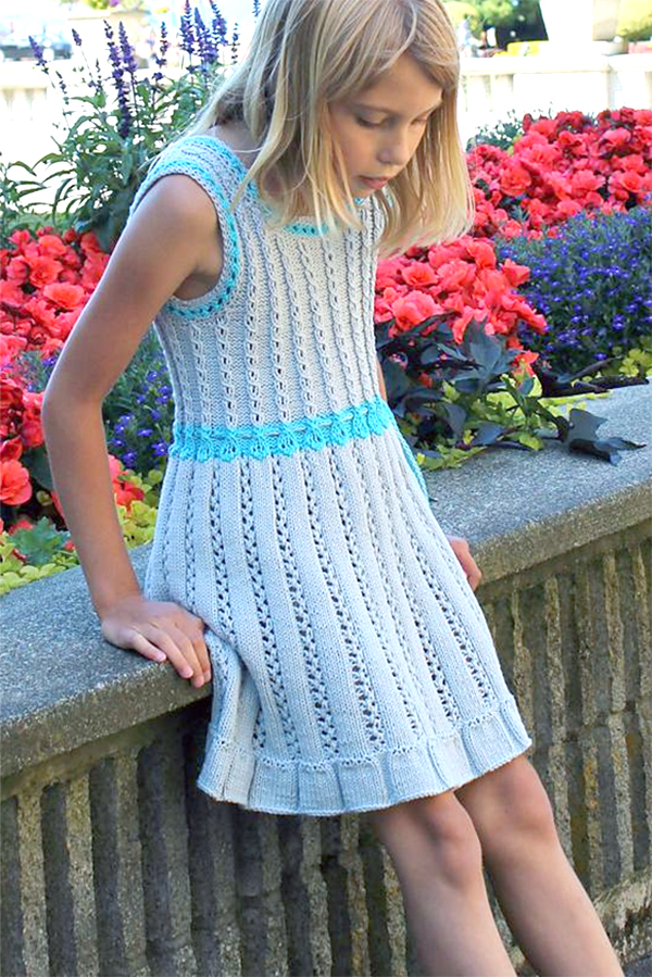 Free knitting pattern for Snowdrop Dress or Tunic