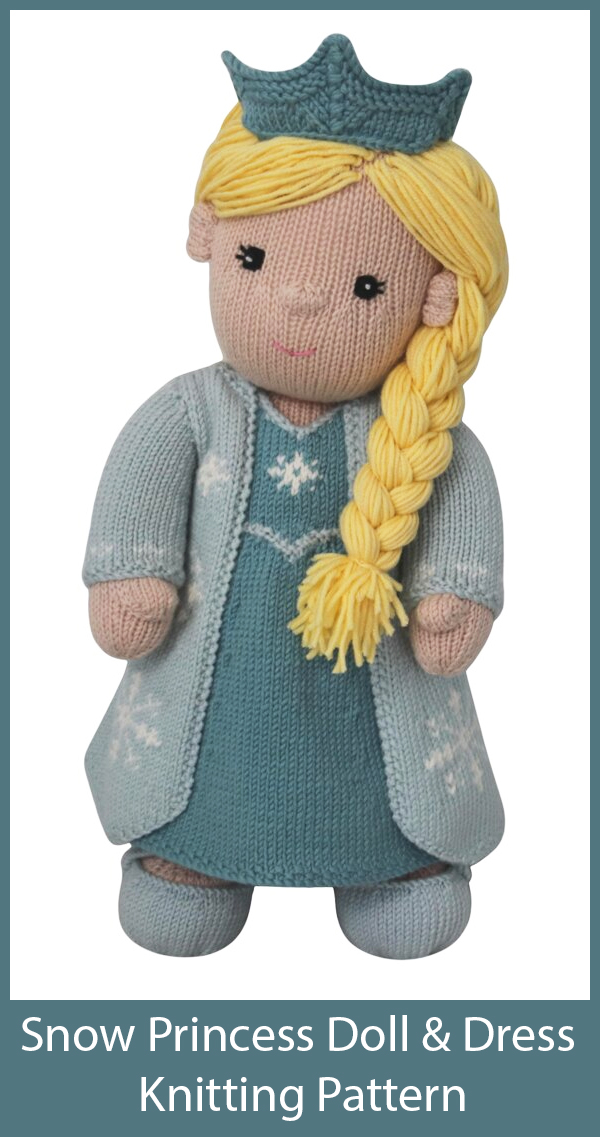 Dolly-Disquette Flora Easy Knit beginers doll Knitting Pattern