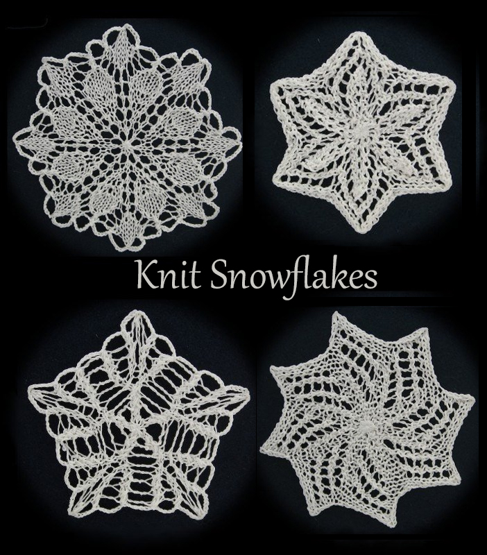 Knitting Patterns for Snowflakes