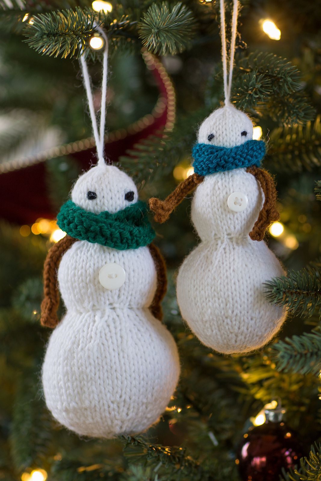 Knitting Pattern for Snowman Family