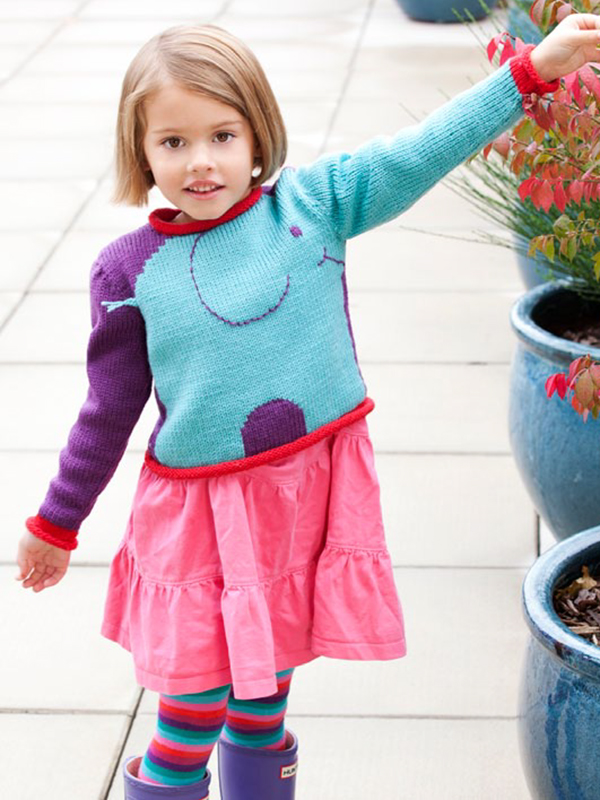 Free Knitting Pattern for Elephant Sweater