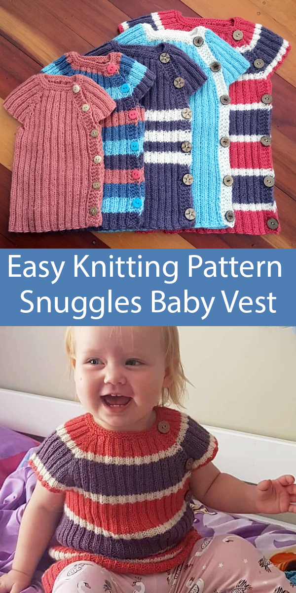 Knitting Pattern for Easy Snuggles Baby and Toddler Vest