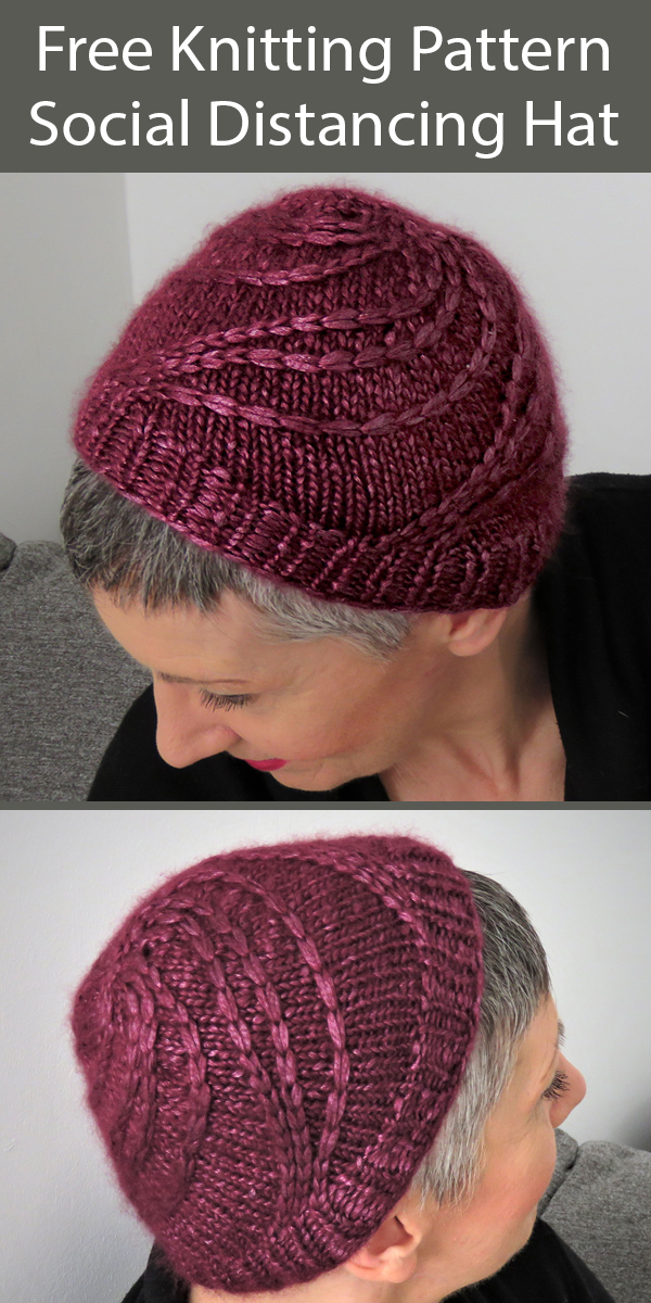 Free Knitting Pattern for Social Distancing Hat in 1 Skein of Bulky Yarn