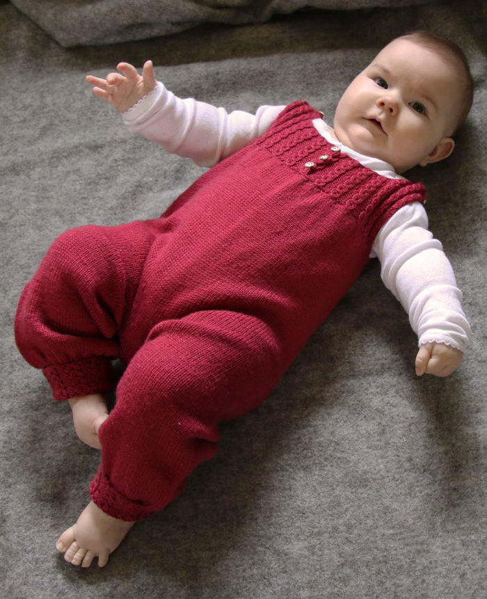 Free Knitting Pattern for Sofia Baby Onesie