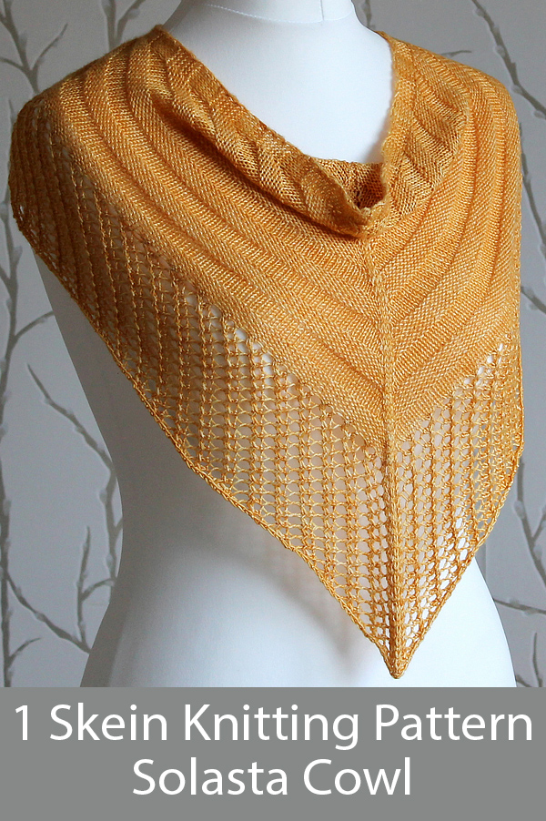 Knitting Pattern for Solasta Cowl