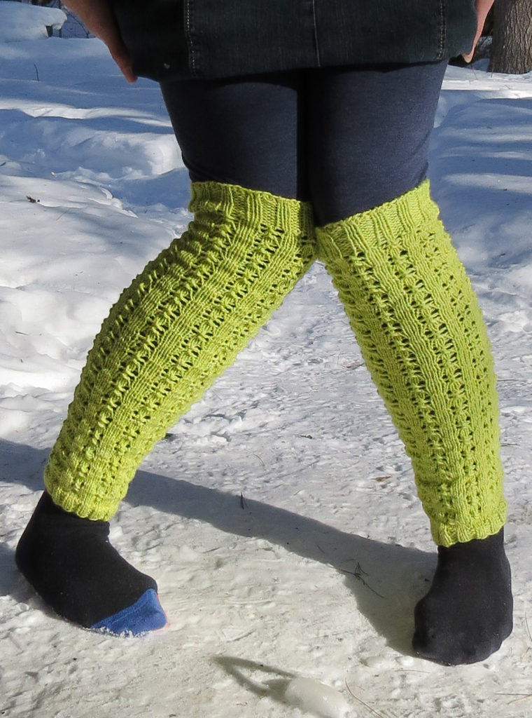 Free Knitting Pattern for Some Cloudy Day Legwarmers
