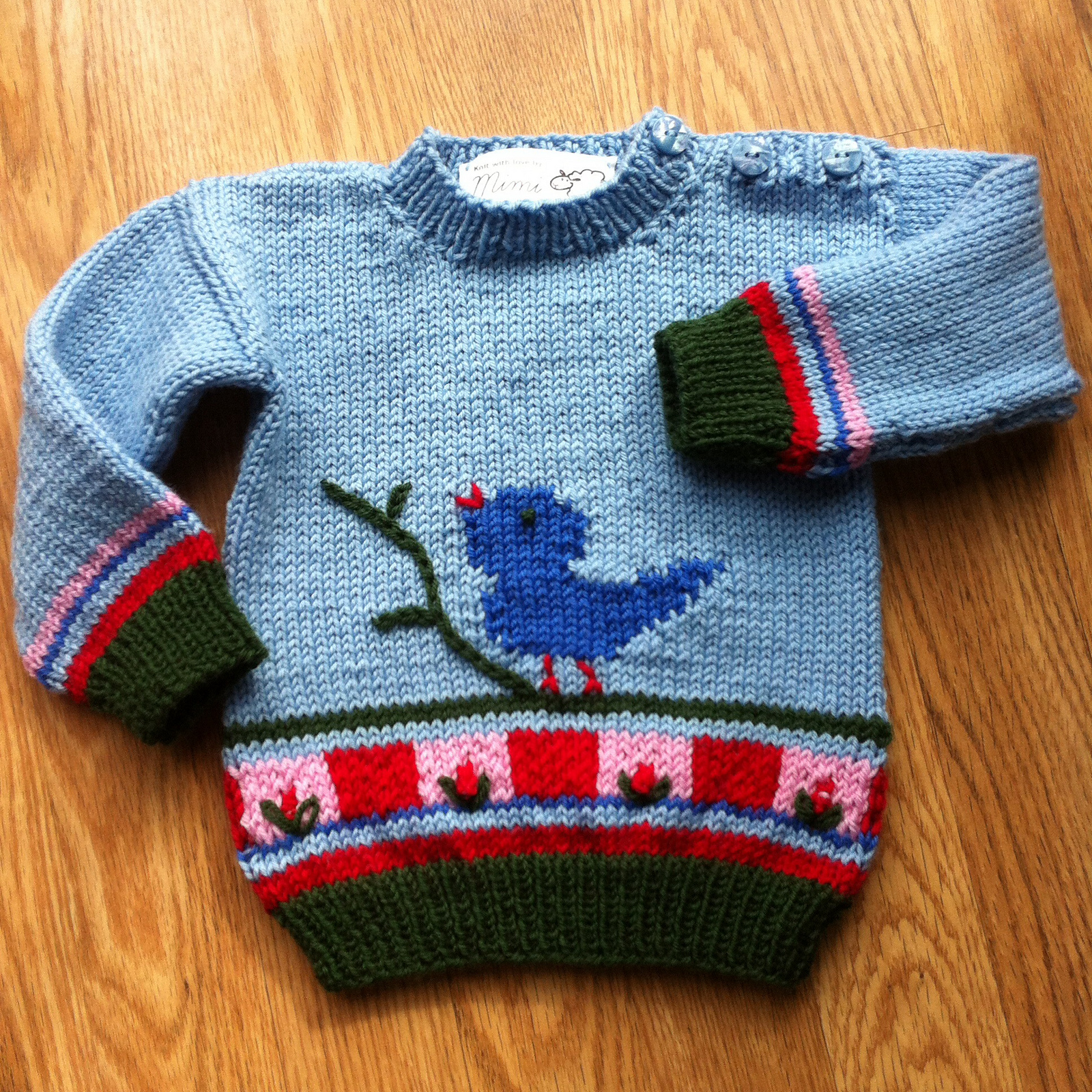 Knitting Pattern for Songbird Sweater