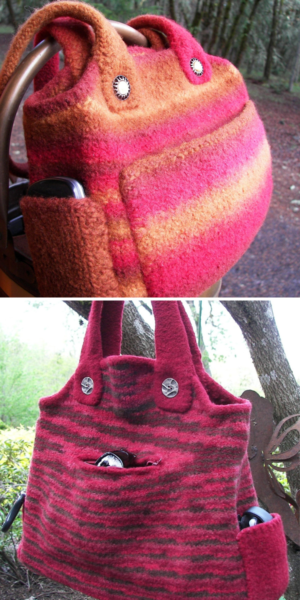 Knitting Pattern for Sonora Bag