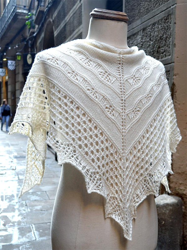 Free Knitting Pattern for One Skein Sonora Shawl