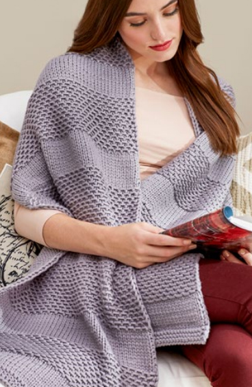Free Knitting Pattern for Soothing Comfort Shawl