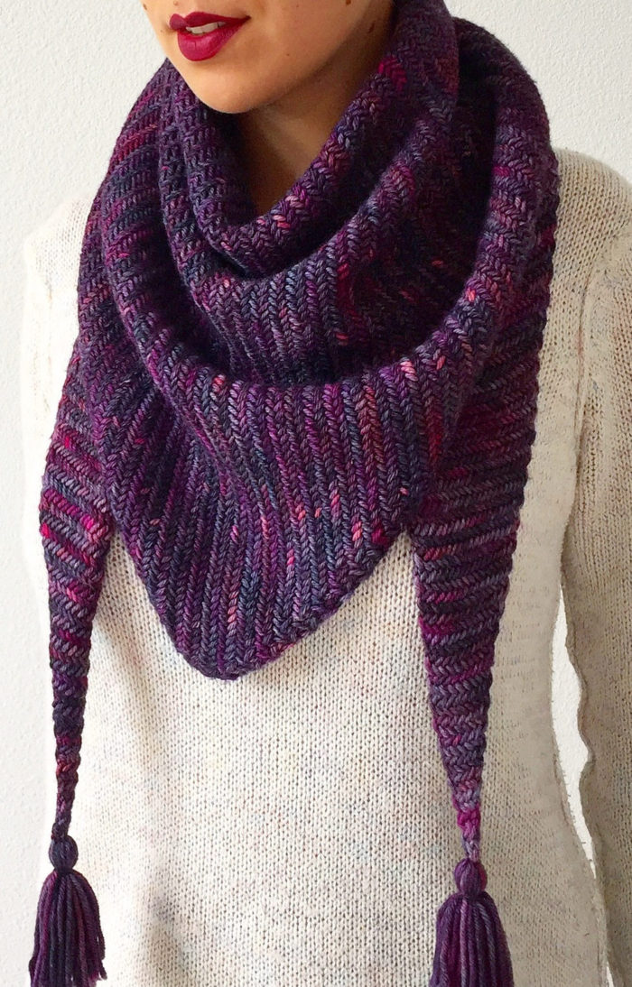 Free Knitting Pattern for Sorceress Scarf