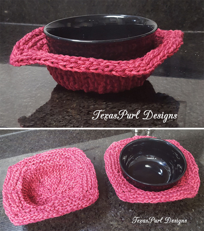 Free Knitting Pattern for Soup Cozy