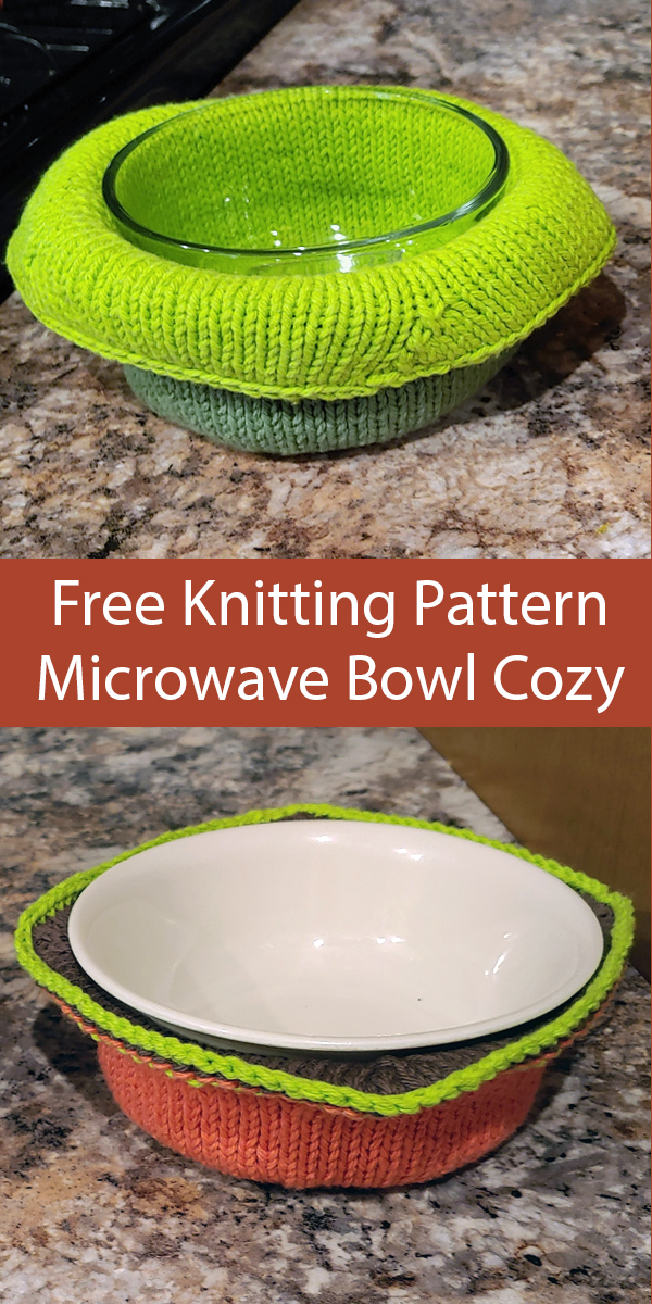 Free Knitting Pattern for SoupR Microwave Bowl Cozy