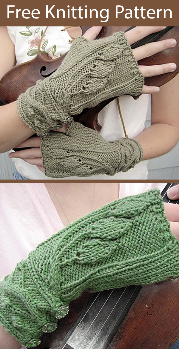 Free Knitting Pattern for Fingerless Mitts Sourwood Mountain