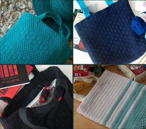 Knitting patterns for Totes