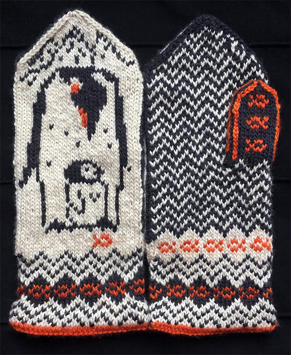 Knitting pattern for Southernmost Mittens