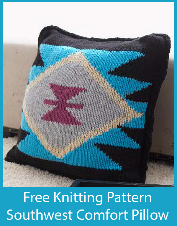 Free Knitting Pattern for Southwest Comfort Pillow